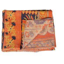 Reversible cotton made kantha quilt