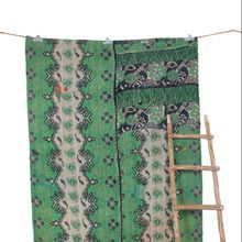 Vintage Bengali Bedspread Throw Cotton Blanket