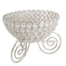Metal Crystal Fruits Bowl