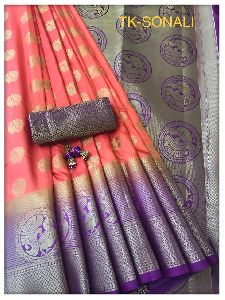 Zari Work Border Silk Saree