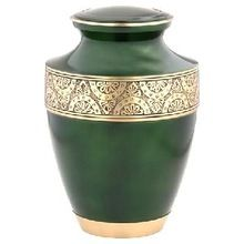 Regent Green Brass Cremation Urn