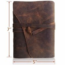Owl Motif Genuine Leather Diary Jounral