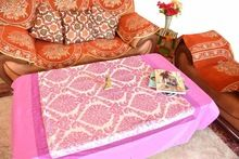 Stunning Pink Embrodried Table Runner