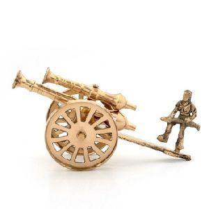 Brass Rajasthani Canon Show Piece
