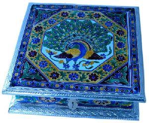 Pure Meenakari Work Dry Fruit Box