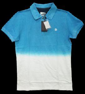 Polo Collar T-shirt Dip-dye