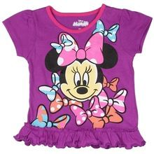 Round Neck Frill Design Girls T-shirts