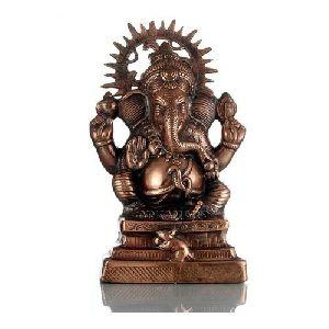 Ganesha Gun Metal Statue