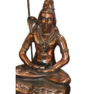Shiva Gun Metal Statue