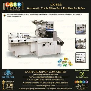 Automatic Cut And Pillow Pack Machine For Toffee And Bubble Gum
