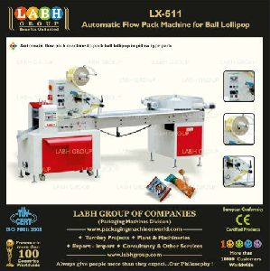 Automatic Flow Pack Machine For Ball Lollipop