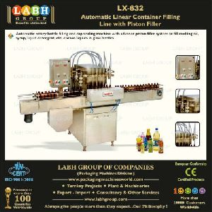 Automatic Linear Container Filling Line