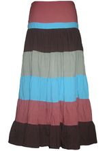 Ladies Long Cotton Fabric Wrap Skirt