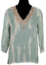 Women Georgette Fabric Long Tunic Top