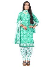 Casual Wear Cotton Unstitched Printed Salwar Kameez