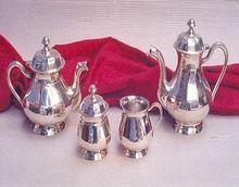 Brass Material Silver Plated Tea Pot Set