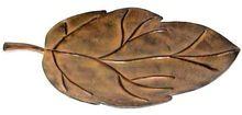 Brown Patina Metal Leaf Tray