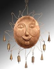 Color Sun Face Decorative Bell Wall Hangings