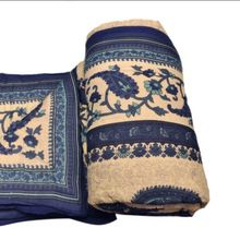 Cotton Hand Block Printed Indian Queen Kantha Jaipuri Quilt