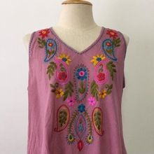 Cotton Mexican Hand Embroidered Blouses