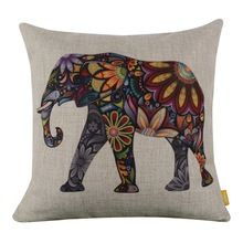 Cover Oil Painting Printed Animal Cushion Cover
