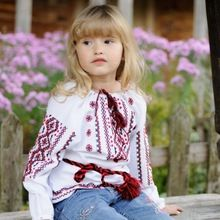 Embroidered Blouse Tunic For Little Girl