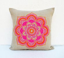 Embroidered Craft Ethnic Pillow Cover