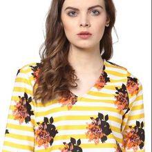 Floral Print Long Sleeves Ladies Blouse
