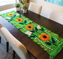 Hand Aari Embroidered Table Runner