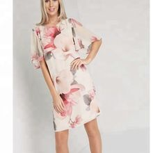 Light Pink All Over Floral Print Chiffon Dress