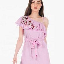 Pretty Baby Pink Beautiful Ladies Simple Fashion Lady Dress