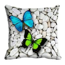 Satin Colorful Butterfly Digital Print Home Decor Sofa Cushion Cover