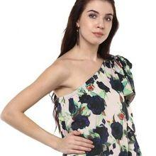 Tie Sleeve Floral Printed Casual Top