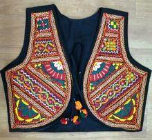 Traditional Rajasthani Badmeri Mirror Work Koti Jacket