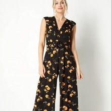 Tropical Long Jumpsuit Women Spring Summer Casual Sleeveless Romper Dress