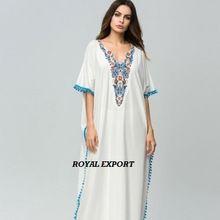 V-neck Long-sleeved Women Pompom Lace Stitched Dress