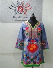Women Suzani Embroidery Tunic Top