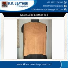 Goat Suede Leather Top For Women