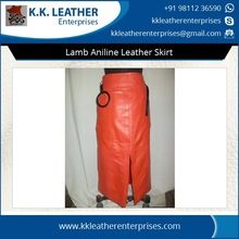 Pure Lamb Aniline Leather Skirt
