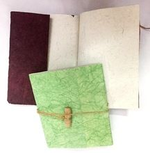 Flap And Bamboo Handmade Paper Diary