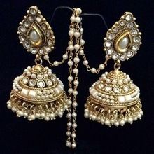 Artificial Gold Kundan Polki Bridal Earrings