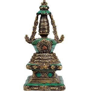 Buddhist Stupa Brass Statue