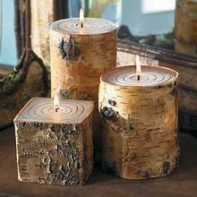 Decorative Taper And Block Chips Floral Handmade Natural Candles