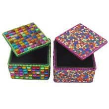 Embroidered Handmade Beaded Fabric Jewelry Boxes