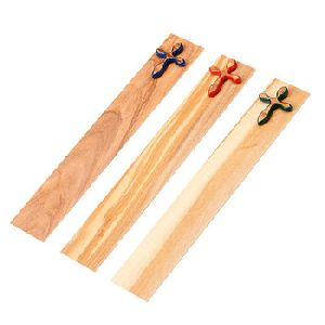 Wooden Bookmark Colored Cross
