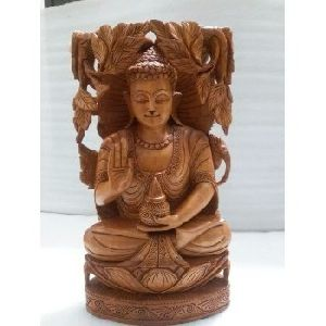 Wooden Craft Buddha Carving