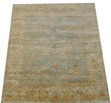 Handmade Woolen Turkish Oushak Bedroom Rug Carpet