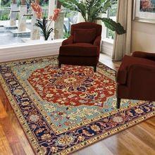 Handmade Luxury Traditional Wool Serapi Carpet And Rug