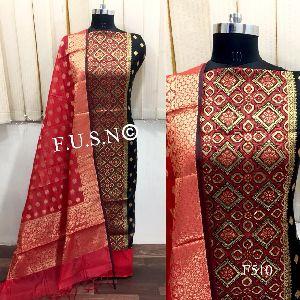 Chanderi Silk Zari Woven Salwar Suits