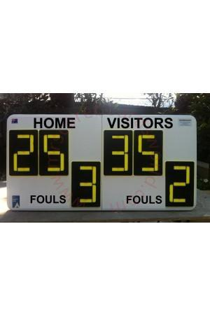 6 Digit Baseball Self Supporting Scoreboard